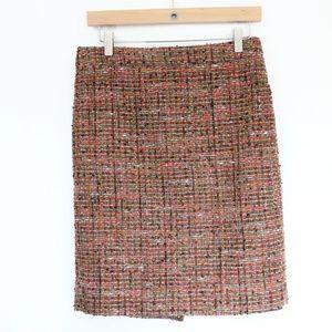 J Crew Pencil Skirt sz 4 Boucle Tweed